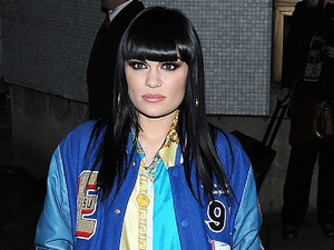 Jessie J leaves the ITV studios after filming for the Alan Carr Chatty Man show London