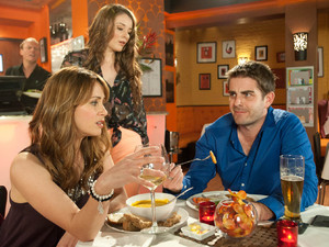 Maria is left feeling awkward when Abi interrupts her date with Tim