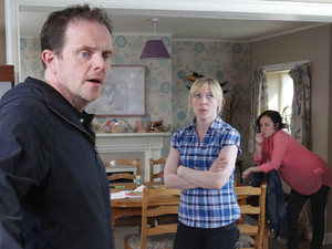 An angry Dan marches into Ali and Ruby&#39;s after Sean lies to him, claiming Ruby tried to kiss him