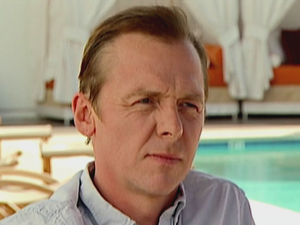 Simon Pegg is interviewed by 'Daybreak' in America