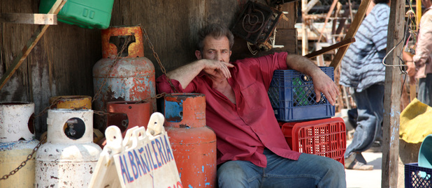 Mel Gibson says he is out of the business of financing any more movies.