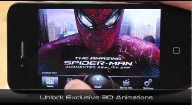 'Amazing Spider-Man' augmented reality app