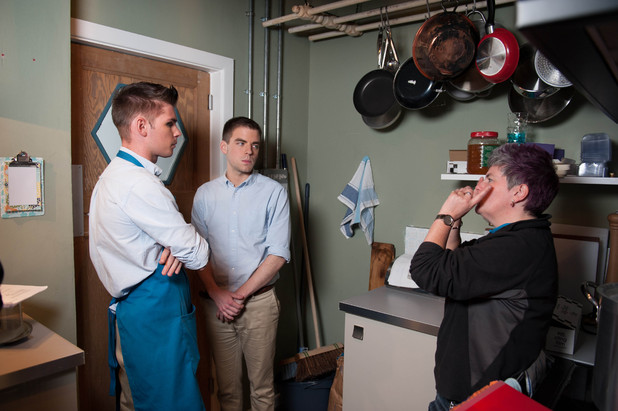 Hollyoaks behind the scenes shots