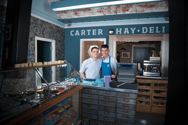 Ste and Doug in their new deli