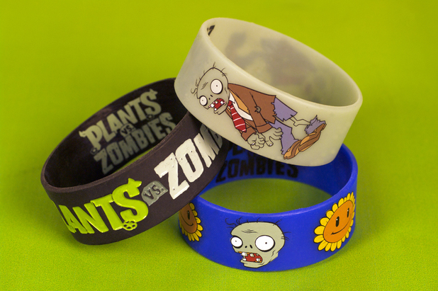 Plants Vs Zombies merchandise - Wristbands from Bioworld