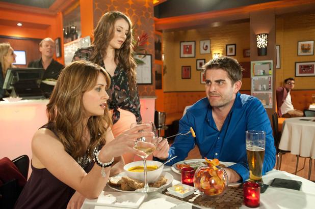Abi intrerrupts Maria's date