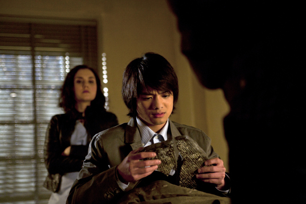 Rachel Miner as Meg, Osric Chau as Kevin Tran