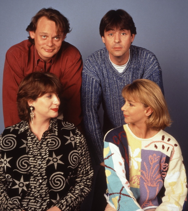 Men Behaving Badly, Martin Clunes, Neil Morrissey, Caroline Quentin and Leslie Ash
