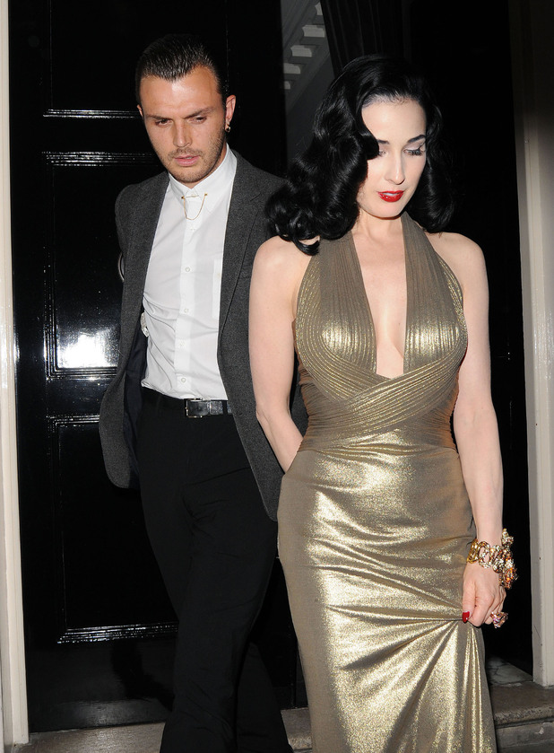 Dita Von Teese and Theo Hutchcraft