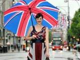 Jasmine Guinness Launches Queen's Diamond Jubilee Celebrations with 147 Union Jack Flags on Oxford Street