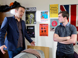 Declan visits Robbie who is short with him when he explains that it was his idea for Megan to meet him.