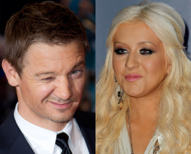 Jeremy Renner and Christina Aguilera