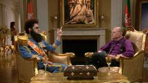 The Dictator gets interviewed by Larry King
