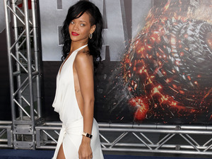 "Rihanna ""Battleship"" premiere at the NOKIA Theatre - arrivals  at L.A. LIVE Los Angeles, California"