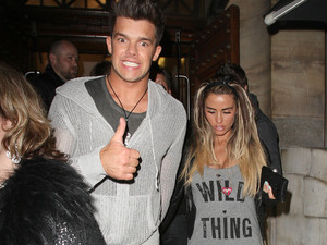 Katie Price and Leandro Penna head to Aura Nightclub with friends London