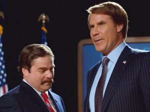 Will Ferrell, Zach Galifiankis in 'The Campaign'
