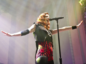 Shirley Manson from the band Garbage performing live at the Troxy, London