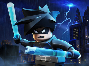 Exclusive character render of Nightwing from LEGO Batman 2: DC Super Heroes.