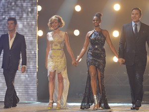 Britain&#39;s Got Talent Semi-Final 4: The Judges : Simon Cowell, Amanda Holden, Alesha Dixon and David Walliams