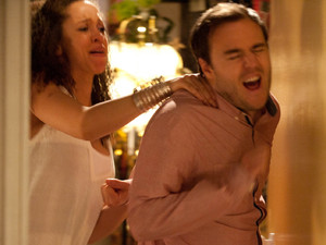 Tyrone invites Kirsty's parents round but the meeting goes awfully and after they leave, Kirsty furiously grabs Tyrone