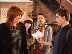 Callum confronts Martha about the red debt letters.