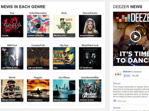 Deezer screenshot