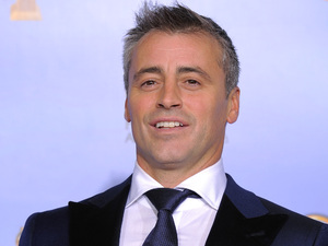 "Friends Cast Then and Now - Matt LeBlanc poses backstage with the award for Best Actor in a TV Series, Comedy or Musical for ""Episodes"" during the 69th Annual Golden Globe Awards, 2012"