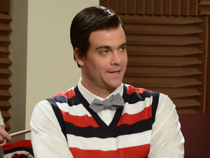 "GLEE: Tina bumps her head and sees Puck (Mark Salling) as Blaine in the first hour of a special two-hour ""Props/Nationals"" episode of GLEE airing Tuesday, May 15 (8:00-10:00 PM ET/PT) on FOX."