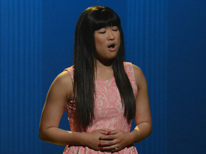 GLEE: Tina (Jenna Ushkowitz) bumps her head and sees herself as Rachel in the first hour of a special two-hour &quot;Props/Nationals&quot; episode of GLEE airing Tuesday, May 15 (8:00-10:00 PM ET/PT) on FOX.