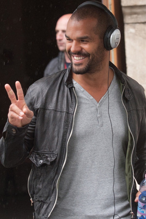 Amaury Nolasco arriving on the film set to shoot scenes for his new movie 'A Good Day to Die Hard' Budapest, Hungary - 07.05.12 Mandatory Credit: WENN.com