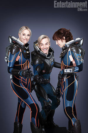 Prometheus Charlize Theron, Michael Fassbender and Noomi Rapace