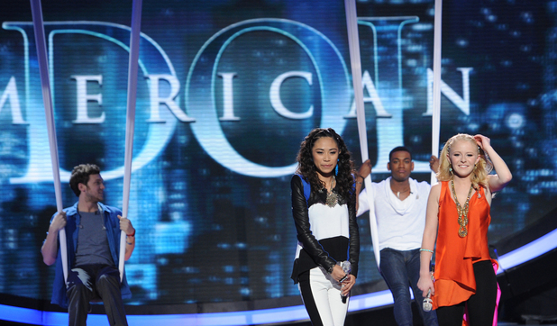 &#39;American Idol&#39;: The Top 4 on stage together