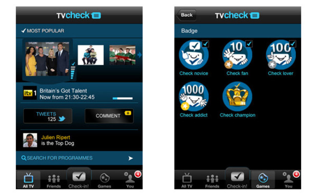 TVcheck iPhone app