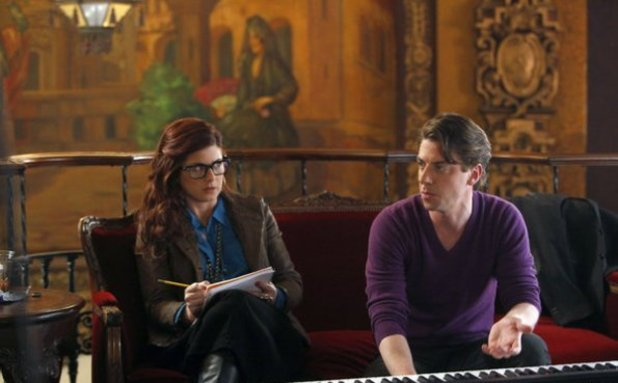 Debra Messing as Julia Houston, Christian Borle as Tom Levitt