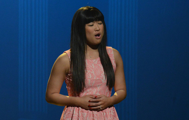 "GLEE: Tina (Jenna Ushkowitz) bumps her head and sees herself as Rachel in the first hour of a special two-hour ""Props/Nationals"" episode of GLEE airing Tuesday, May 15 (8:00-10:00 PM ET/PT) on FOX."