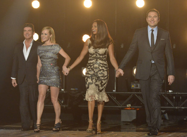 Simon Cowell, Amanda Holden, Alesha Dixon and David Walliams