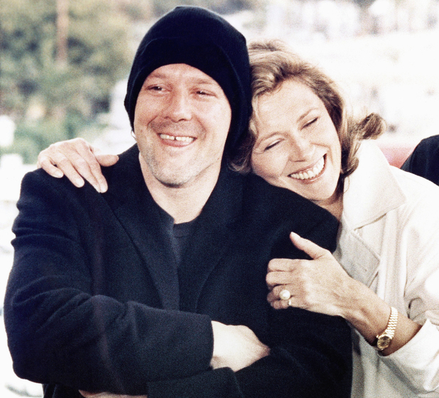 Mickey Rourke and Faye Dunnaway Barfly