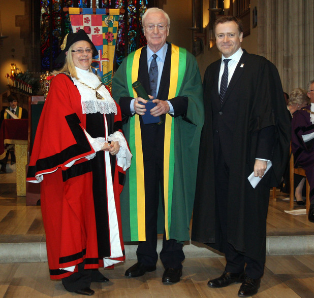 Sir Michael Caine is awarded the Freedom of the Borough of Southwark.