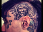 Trace Cyrus gets head tattooed - picture