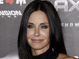 Friends Cast Then and Now - Courteney Cox arrives at the premiere of &quot;Scream 4&quot; in Los Angeles, 2011