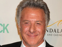 Dustin Hoffman kisses One Direction's Niall Horan during CBS Late Show appearance.