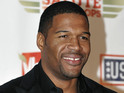 "Michael Strahan tells viewers that he is ""so happy"" to be Kelly Ripa's on-air partner."