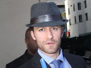 Matthew Morrison signing autographs outside 'Jimmy Kimmel Live!' Los Angeles