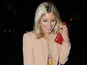 Mollie King arriving at Heathrow Airport on a flight from Glasgow London