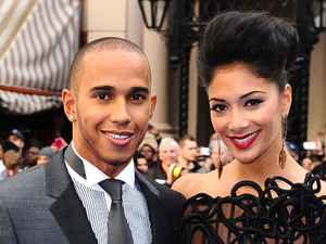 Lewis Hamilton and Nicole Scherzinger arrives at the premiere of new film Men In Black 3 at the Odeon in Leicester Square, London