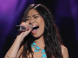 American Idol semi-final - Jessica Sanchez performs