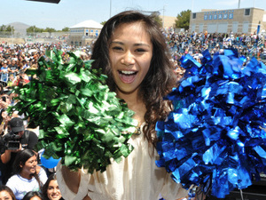 Jessica Sanchez peforms at her hometown celebration in Chula Vista, CA