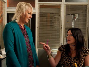 Eileen tries to defend herself, telling Carla that she has been having a rough time in her personal life recently