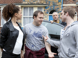 Tyrone arrives back with the car, and a furious Tommy lets all his emotion out and lays into him