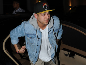 Rob Kardashian arrives at Whiskey Mist. Rumored girlfriend Rita Ora arrived in a separate car possibly to avoid being photographed with Kardashian